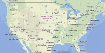 Map about Chemical suppliers in USA